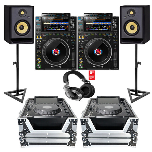 Pioneer CDJ-3000 Professional Multi Player W/ Cases, Monitors, Stands & Headphones