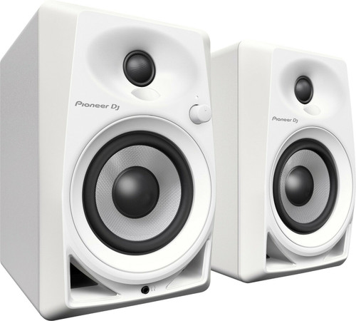 "Pioneer DJ DM-40-W 4"" Desktop Monitor 2-Way Bass Reflex, Active Monitor Speakers"