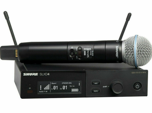 Shure SLXD24/B58 G58 Wireless System Beta58A Handheld Transmitter (G58: 470-514MHz)