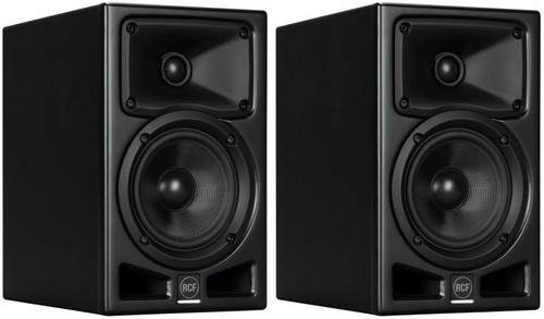 """2x RCF AYRA PRO5 5"""" Active Two-Way Amplified Studio Monitor 100W Powered Speaker"""