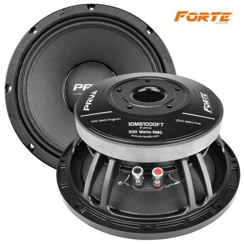 "2x PRV AUDIO 10MB1000FT 10"" Mid Bass, Aluminum Basket 3"" VC, 500W 8-Ohm FORTE Series"