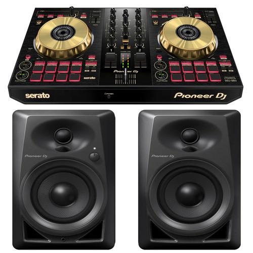 Pioneer DDJ-SB3-N 2-Channel DJ Controller W/ Pioneer Monitors DM-40