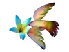 "Copper Hummingbird with Lily Flower on Spring - 8"" wingspan"