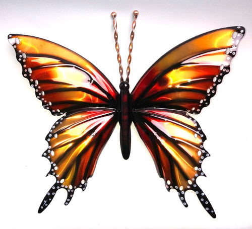 Large Copper Wall Butterfly 12""