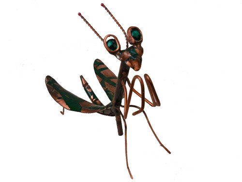 "Copper Praying Mantis - Single - 6"" Body Length"