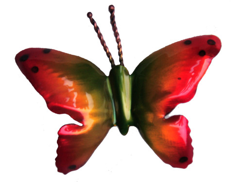 """Copper Flying Butterfly - 3"""" Overall Wingspan"""