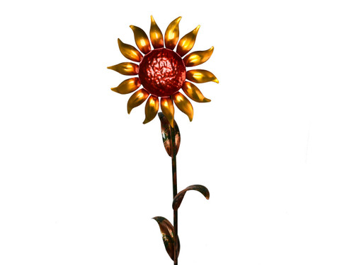 "Copper Sunflower - Single Bloom - 48"" Tall"