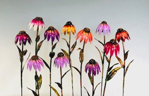 "12 inch tall single cone flower.  Also available in 14"" and 18"" and variety of colors.  Please call for more information."