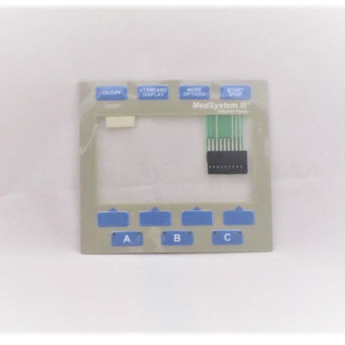 Alaris Medsystem III Keypad Overlay Assembly.  Part Number: 143817.