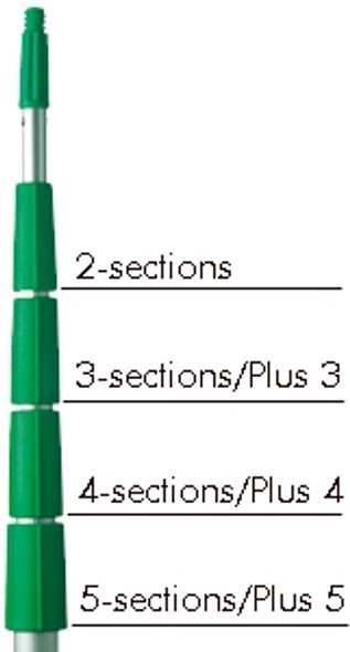 UNGER  TelePlus 30 Foot 5-Section Modular Extension Pole