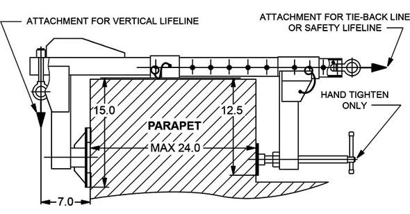 MIO Parapet Clamp Model MTBC