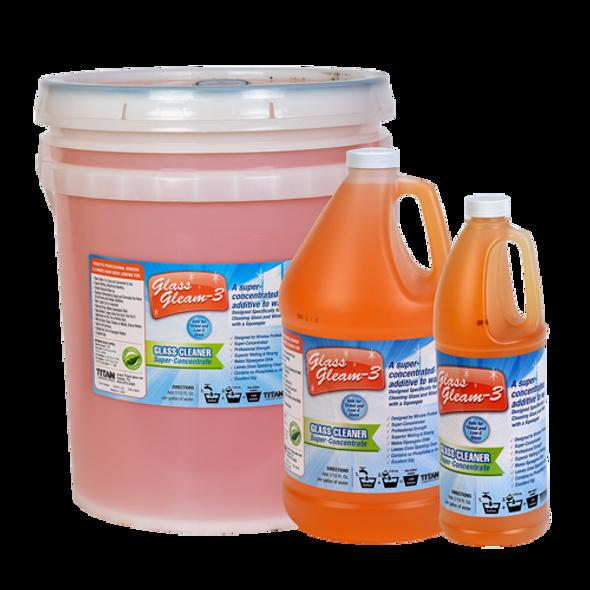 TITAN LABS Glass Gleam-3™ Glass Cleaner Super Concentrate - Orange - 4 Gallon Case