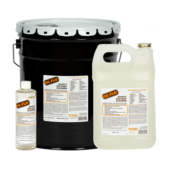 TITAN LABS Oil-Flo Safety Solvent Cleaner - 1 Gallon