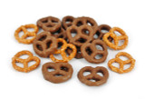 Milk chocolate covered salty pretzels