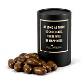 Milk chocolate covered jelly babies black cylinder gift box