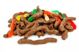 Milk chocolate covered snakes