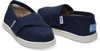 Navy Canvas Tiny TOMS Classics