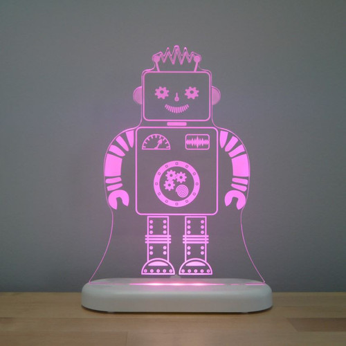 Aloka Lights Robot Night Bright Pink