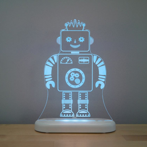 Aloka Lights Robot Night Aqua Blue