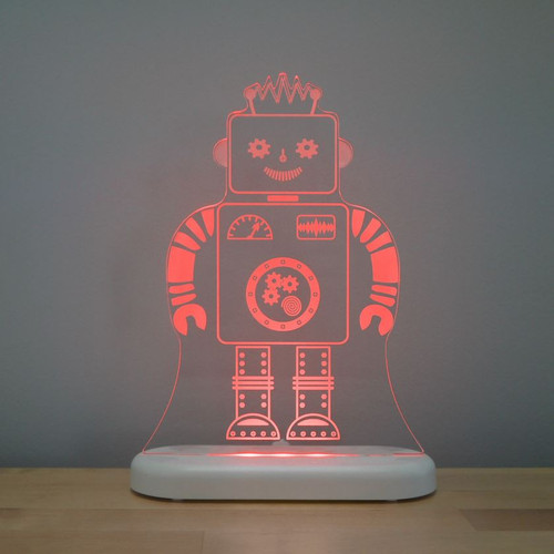 Aloka Lights Robot Night Red