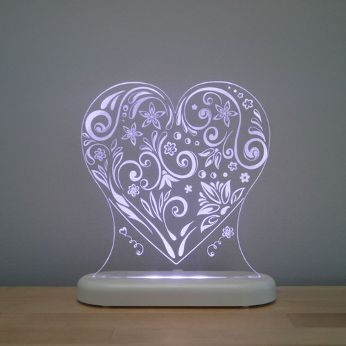 Aloka Night Light Heart Soft Purple