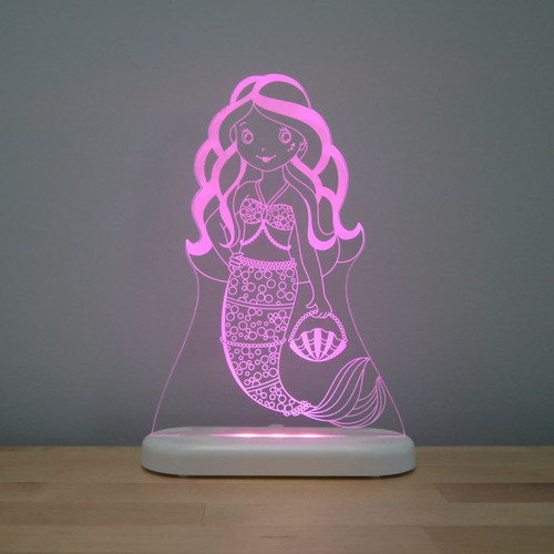 Aloka Night Light Mermaid Pink