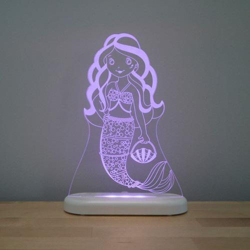 Aloka Night Light Mermaid Purple
