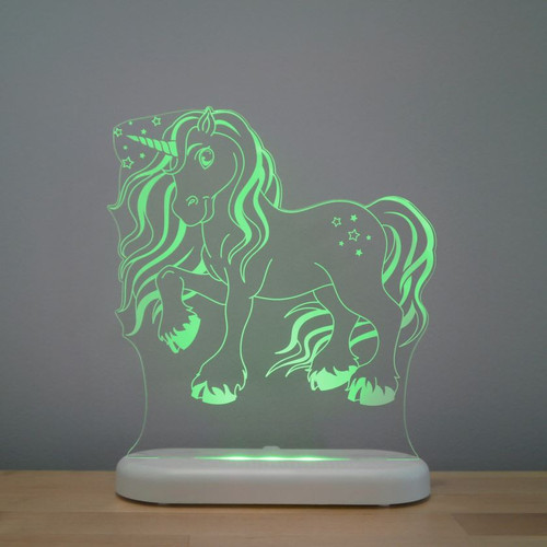 Aloka Lights Unicorn Night Light Green
