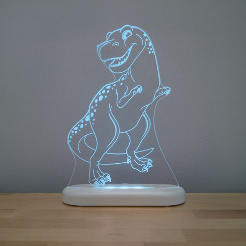 Aloka Night Light T Rex Dinosaur Aqua Blue