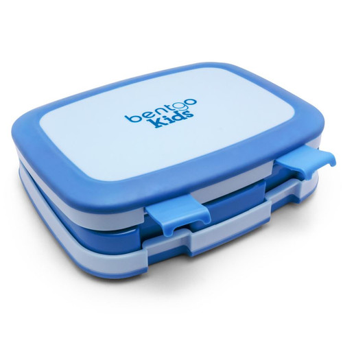 Bentgo Bento Lunch Box Blue Closed