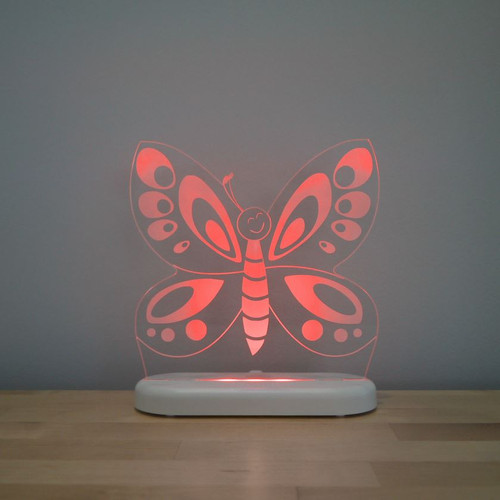 Aloka Night Light Butterfly Red