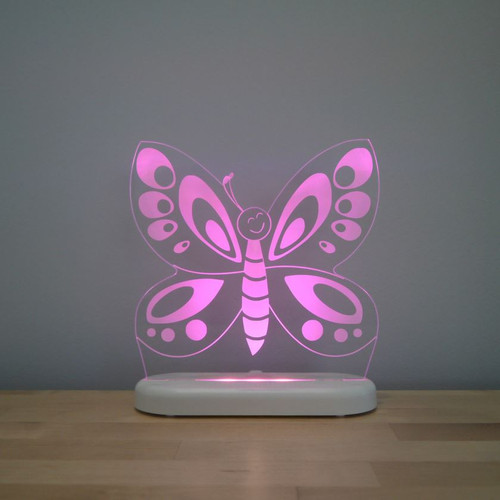 Aloka Night Light Butterfly Pink
