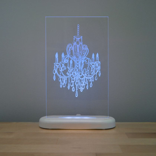 Aloka Slim Lights Chandelier Blue