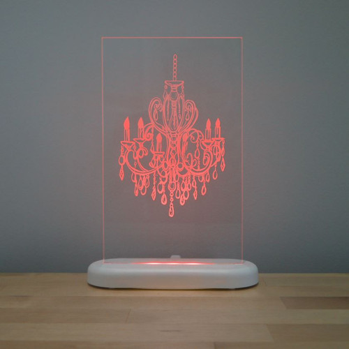 Aloka Slim Lights Chandelier Red
