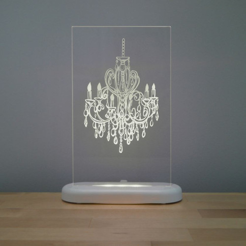Aloka Slim Lights Chandelier White