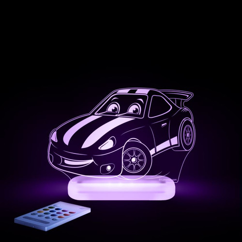Aloka Night Light Racing Car Purple