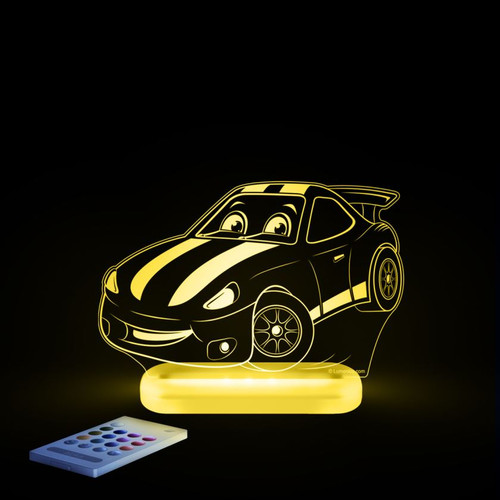 Aloka Night Light Racing Car Yellow