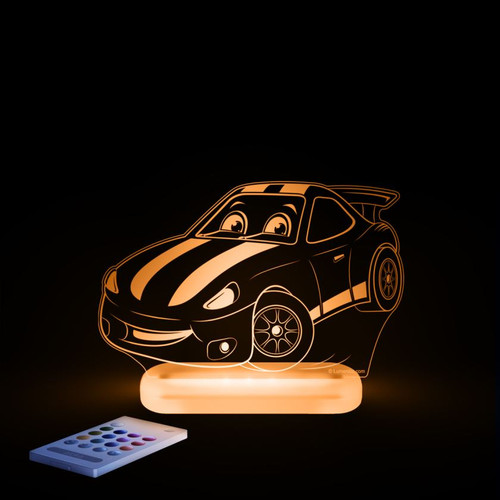 Aloka Night Light Racing Car Orange