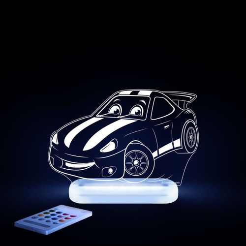 Aloka Night Light Racing Car White