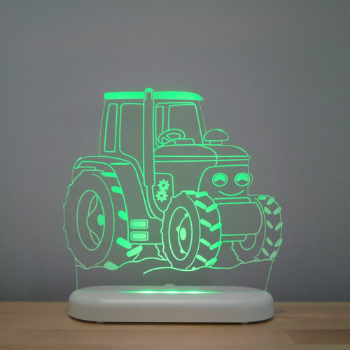 Aloka Boys Night Light Tractor Green