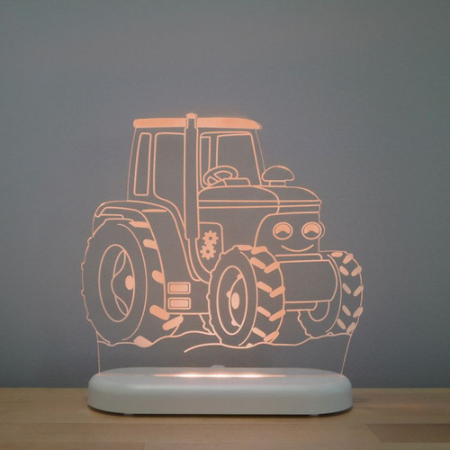 Aloka Boys Night Light Tractor Orange