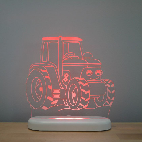 Aloka Boys Night Light Tractor Red