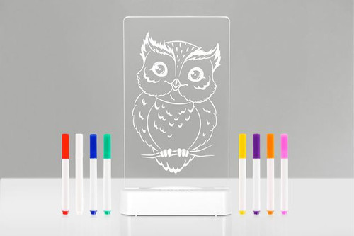 Colour Me Night Light Aloka Owl