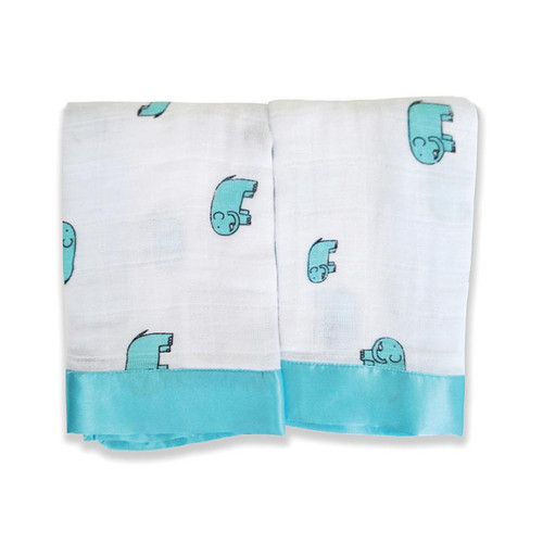 Issie Security Blankets - Jungle Jam Elephan