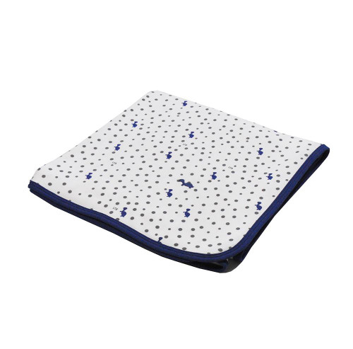 Stretch Jersey Wrap - Turtles & Spots Navy