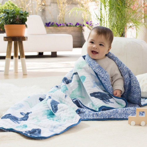 Dream Blanket - Seafaring Whale