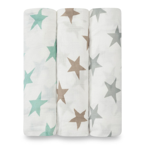 3-Pack Silky Soft Swaddles - Milky Way
