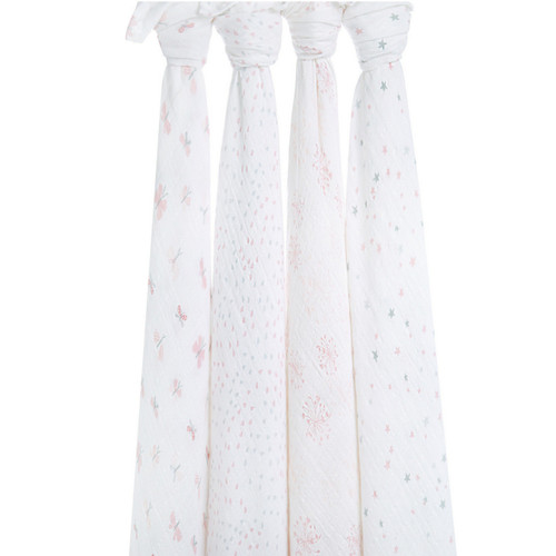 4-Pack Classic Swaddles - Lovely Reverie