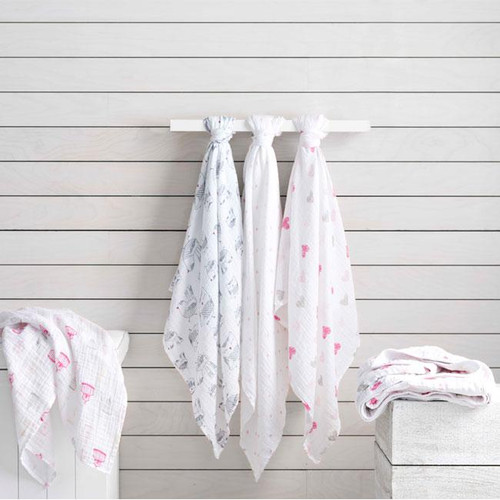 4-Pack Classic Swaddles - Love Bird