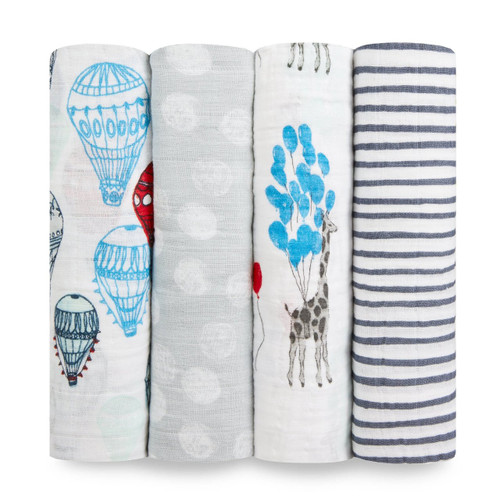 4-Pack Classic Swaddles - Dream Ride
